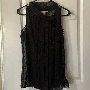 Banana republic black Sheer elegant blouse size 2